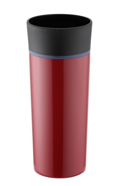 Thermobecher doppelwandig vakuumisoliert rot