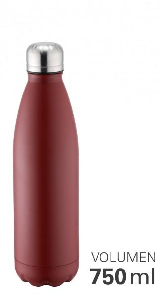 Thermoflasche 750 ml doppelwandig vakuumisoliert rot