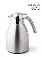 Isolierkanne Edelstahl mit Glaseinsatz 0,7 Liter