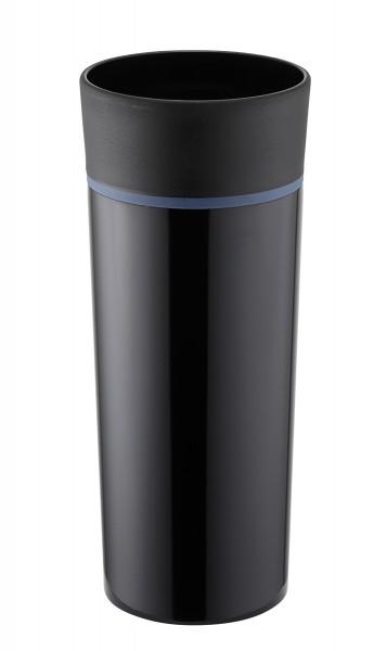 Thermobecher doppelwandig vakuumisoliert schwarz