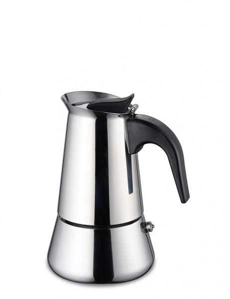Espressokocher aus Edelstahl für 2 Tassen